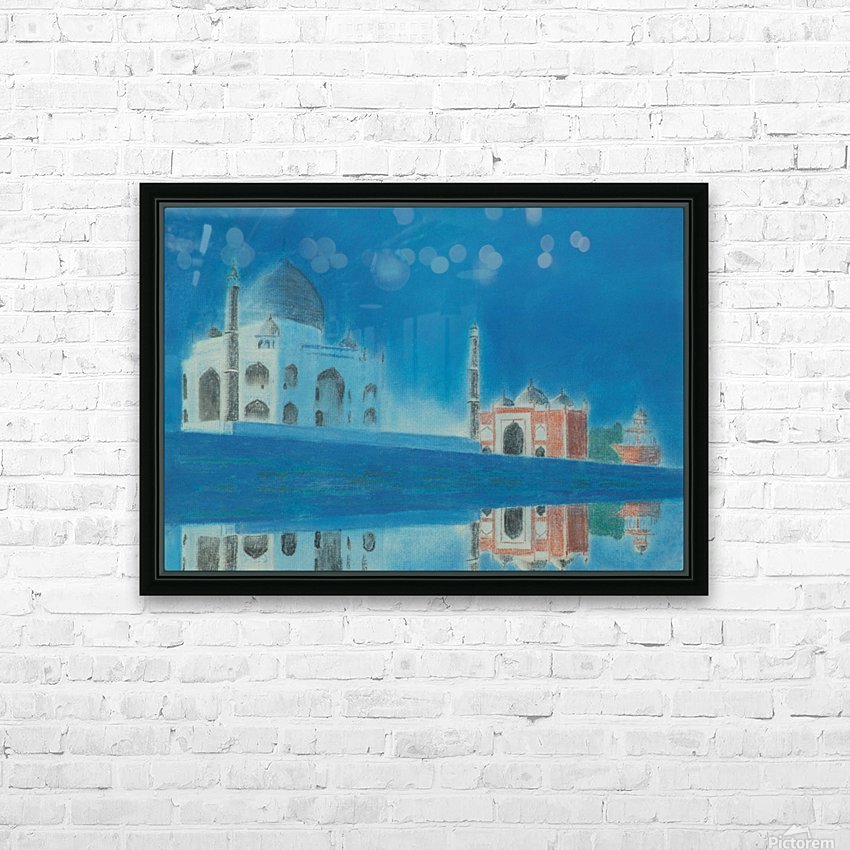 Taj. HD Sublimation Metal print with Decorating Float Frame (BOX)