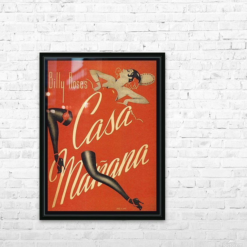 Billy Rose's Casa Manana HD Sublimation Metal print with Decorating Float Frame (BOX)