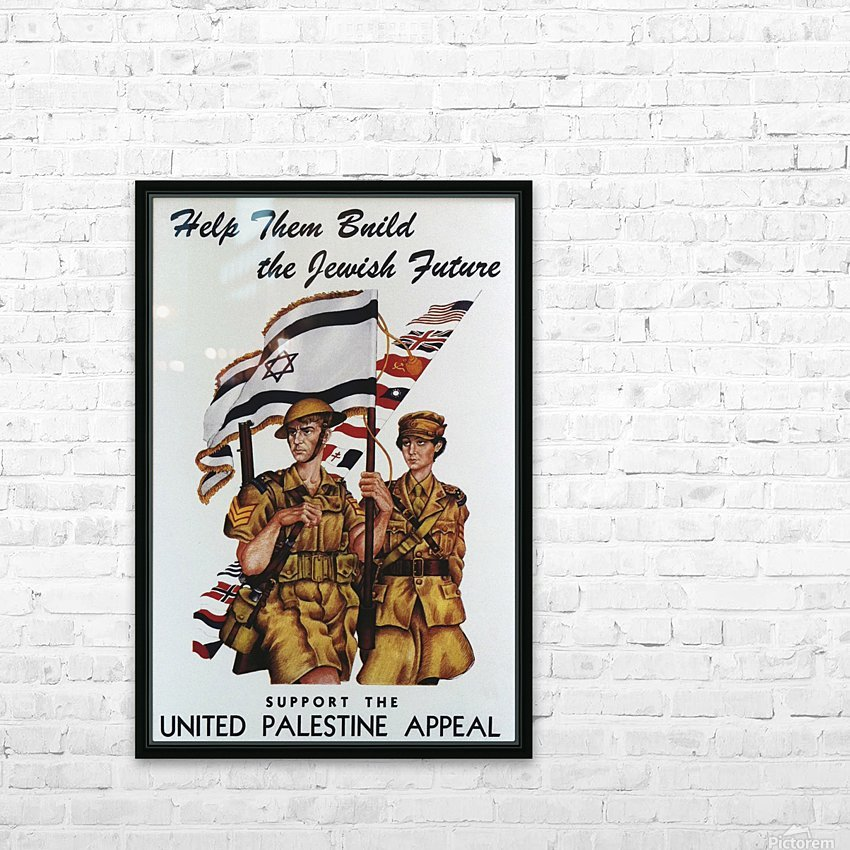 1942 United Israel appeal poster HD Sublimation Metal print with Decorating Float Frame (BOX)