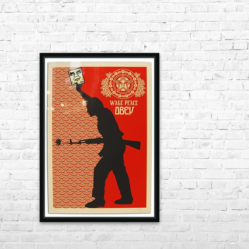 Wage Peace Obey poster HD Sublimation Metal print with Decorating Float Frame (BOX)