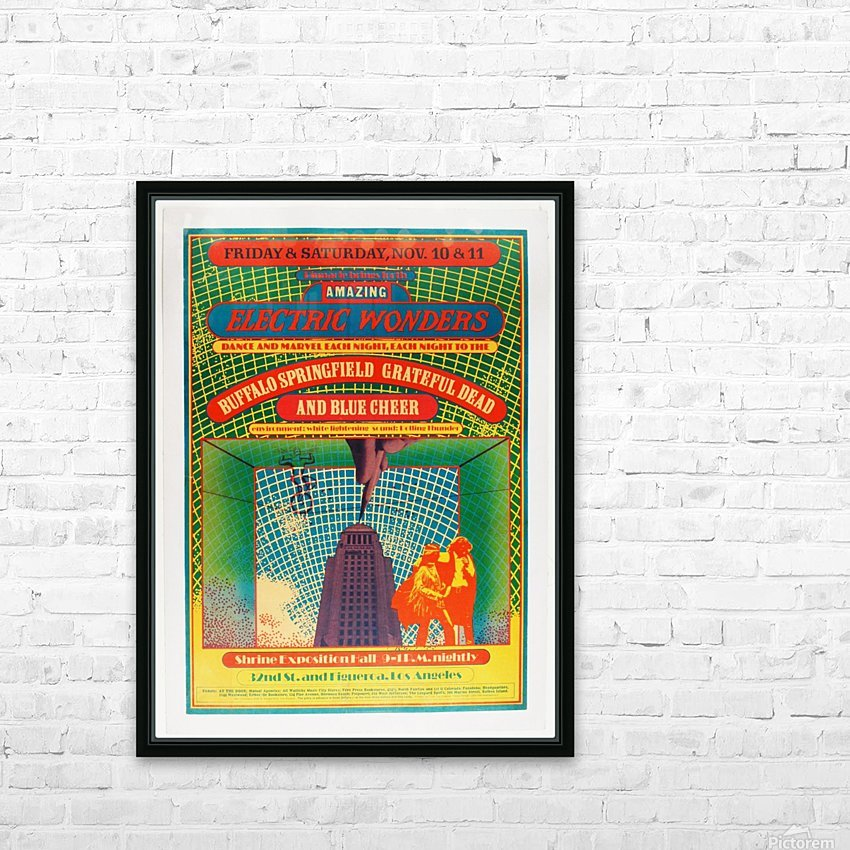 1967 Shrine Exposition Hall Buffalo Springfield Grateful Dead HD Sublimation Metal print with Decorating Float Frame (BOX)