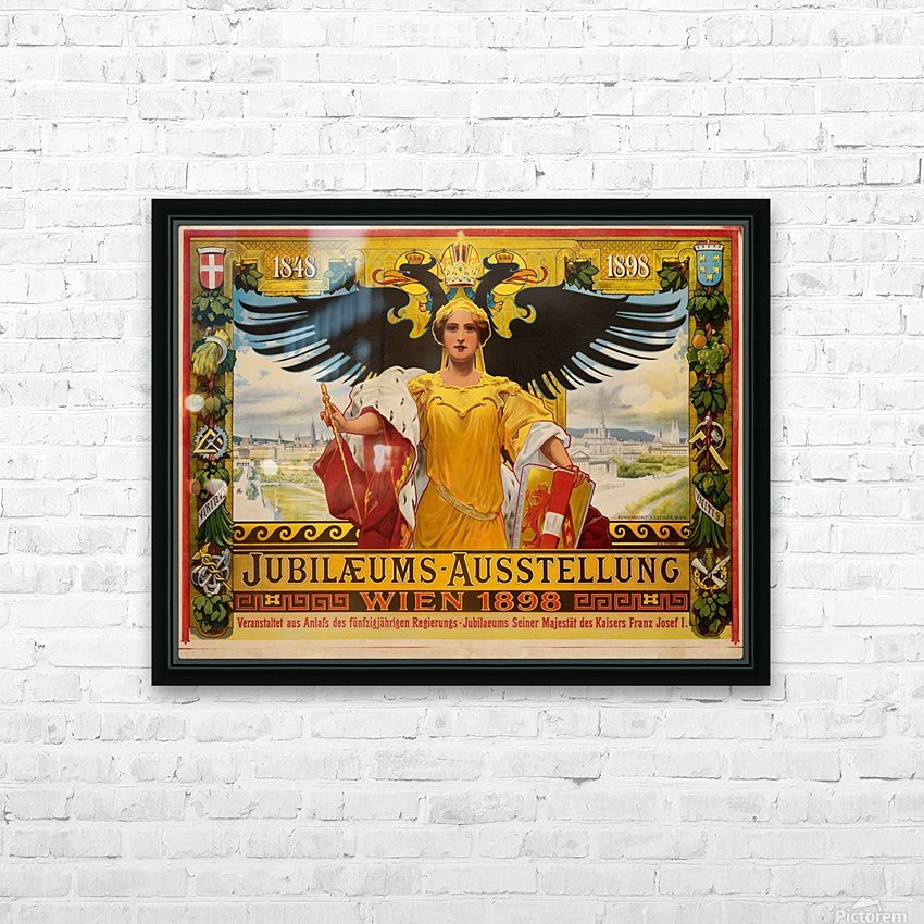 Jubilaeums Austellung Wien 1898 HD Sublimation Metal print with Decorating Float Frame (BOX)