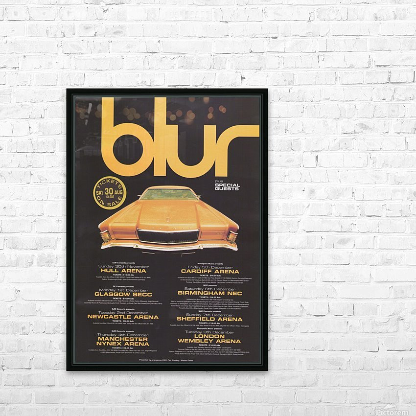 Blur HD Sublimation Metal print with Decorating Float Frame (BOX)