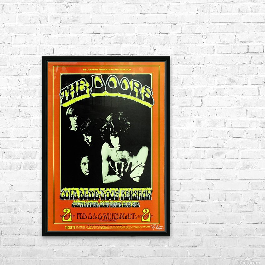 The Doors HD Sublimation Metal print with Decorating Float Frame (BOX)