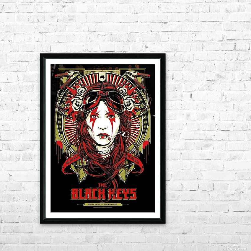 The Black Keys HD Sublimation Metal print with Decorating Float Frame (BOX)