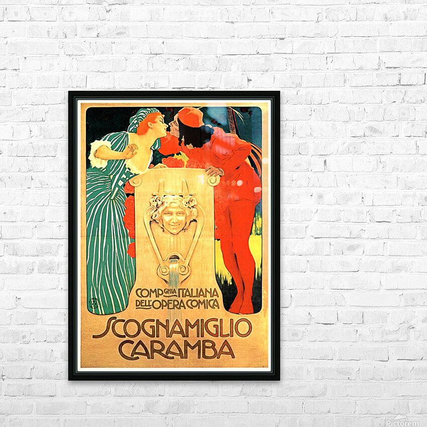 Scognamiglio Caramba HD Sublimation Metal print with Decorating Float Frame (BOX)