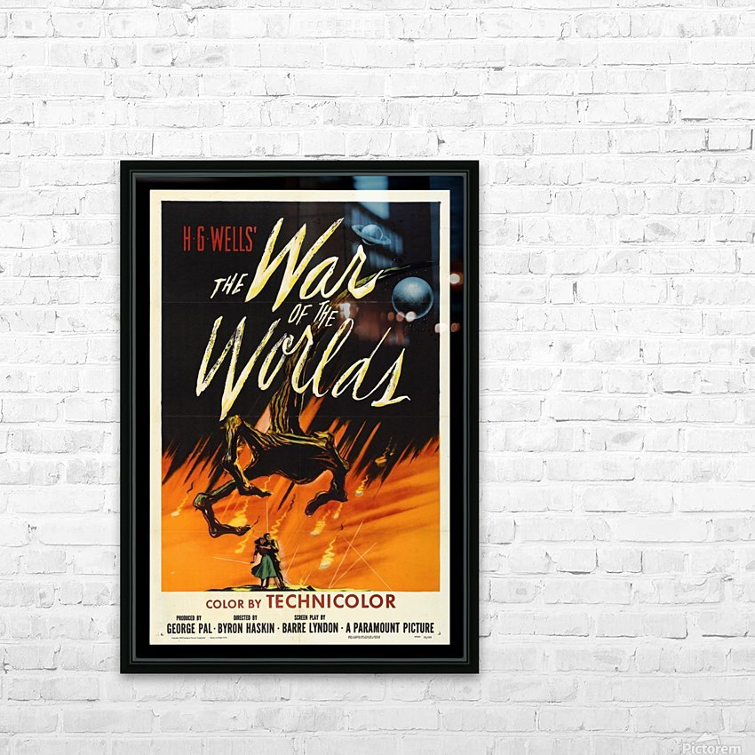 The War of the Worlds HD Sublimation Metal print with Decorating Float Frame (BOX)