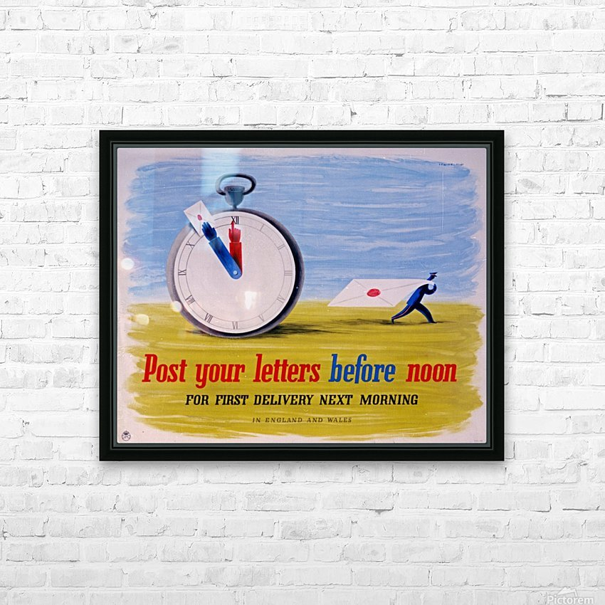 Post your letters before noon HD Sublimation Metal print with Decorating Float Frame (BOX)