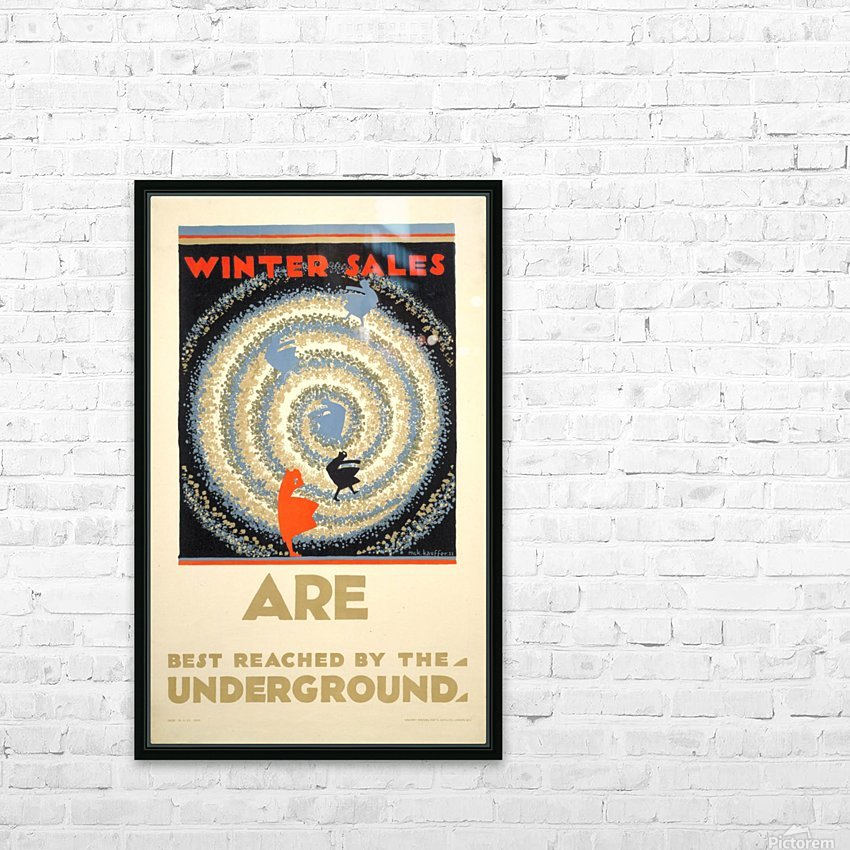 Winter sales are best reached by the underground HD Sublimation Metal print with Decorating Float Frame (BOX)