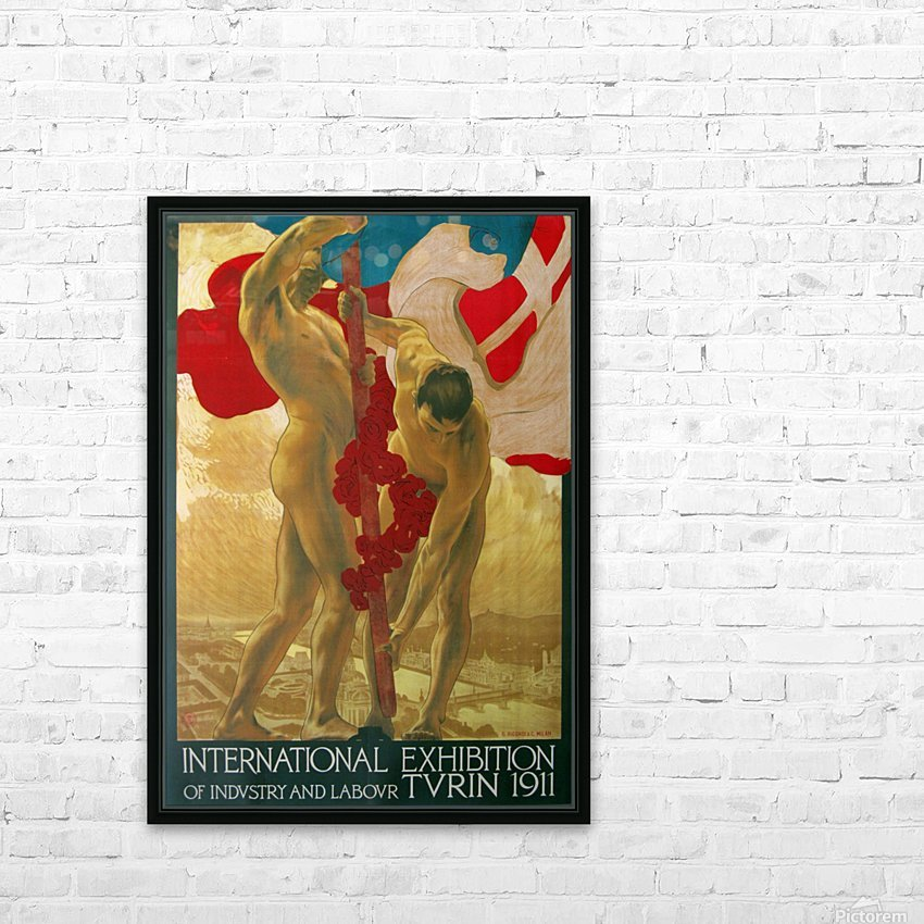 International Exhibition of Industry and Labour Turin 1911 HD Sublimation Metal print with Decorating Float Frame (BOX)