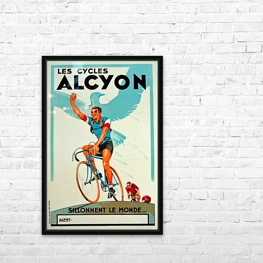 Alcyon Cycles HD Sublimation Metal print with Decorating Float Frame (BOX)
