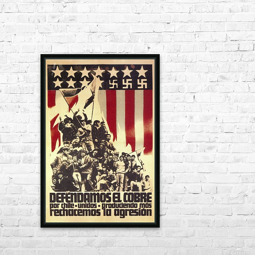 Defend Chile copper from the USA HD Sublimation Metal print with Decorating Float Frame (BOX)