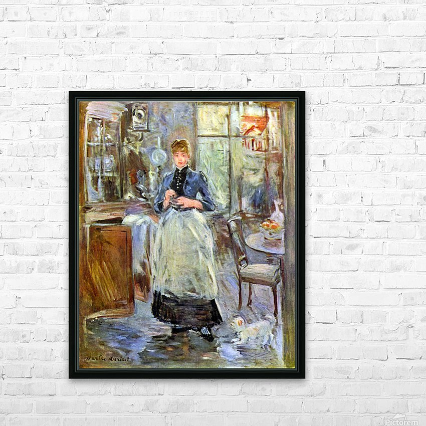 The Dining Room by Morisot HD Sublimation Metal print with Decorating Float Frame (BOX)