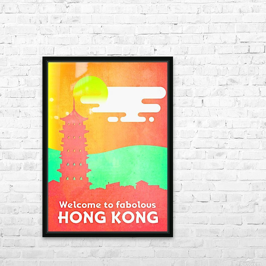 Welcome to Fabolous Hong Kong HD Sublimation Metal print with Decorating Float Frame (BOX)