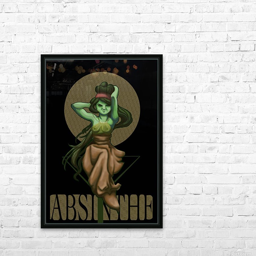 Green Fairy Absinthe Poster HD Sublimation Metal print with Decorating Float Frame (BOX)