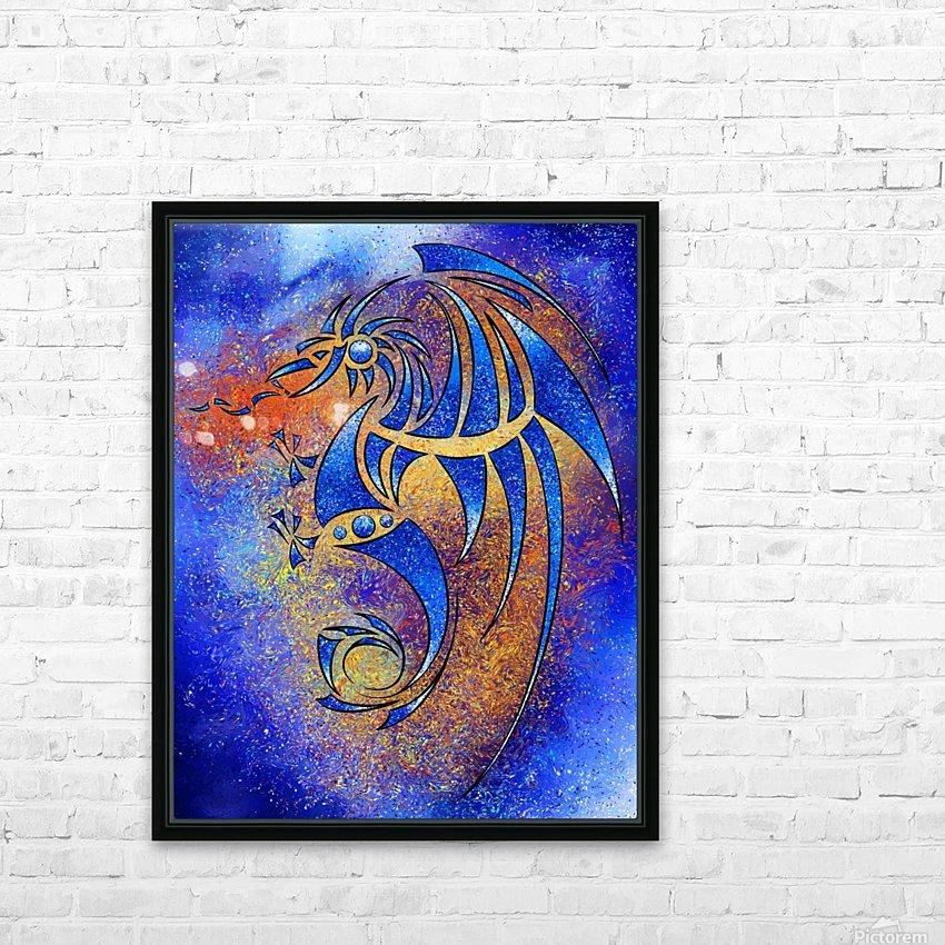 Dragissous V1 - blue dragon HD Sublimation Metal print with Decorating Float Frame (BOX)