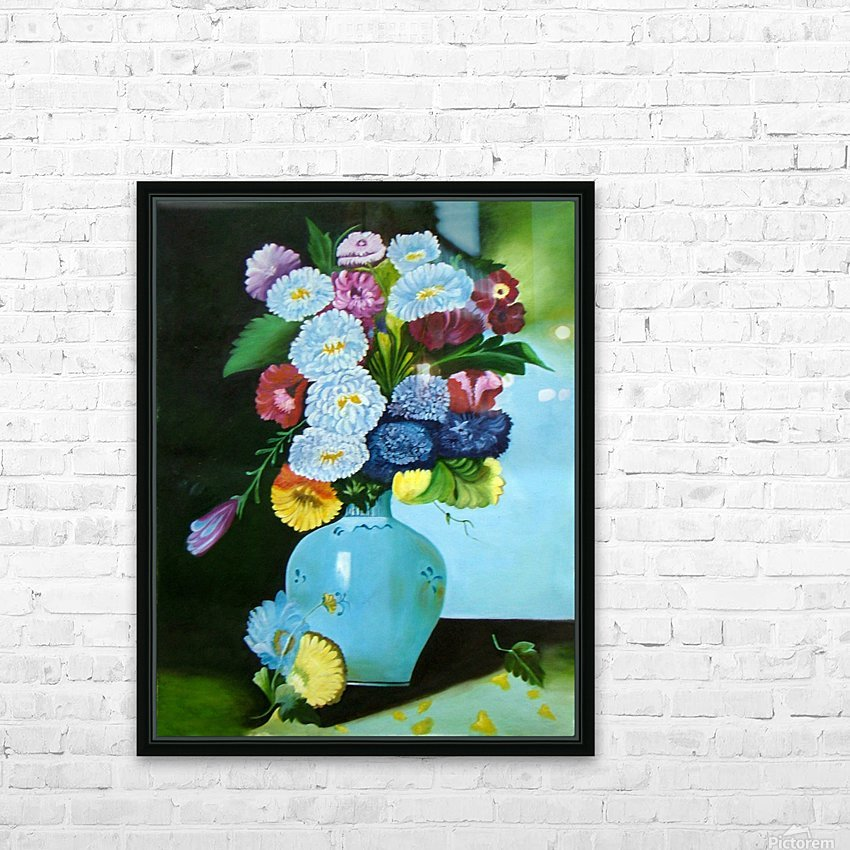 Floral Galaxy HD Sublimation Metal print with Decorating Float Frame (BOX)
