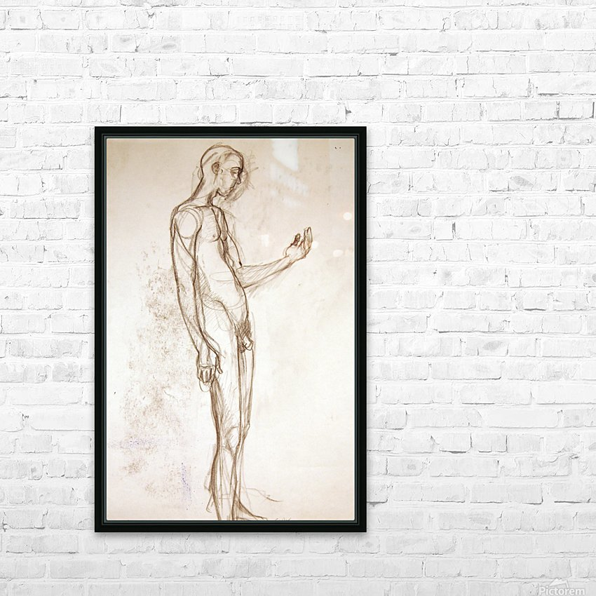 Contemplation Figure Study HD Sublimation Metal print with Decorating Float Frame (BOX)