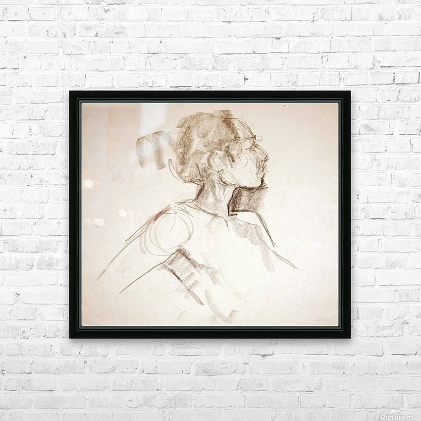 Female Profile Study HD Sublimation Metal print with Decorating Float Frame (BOX)