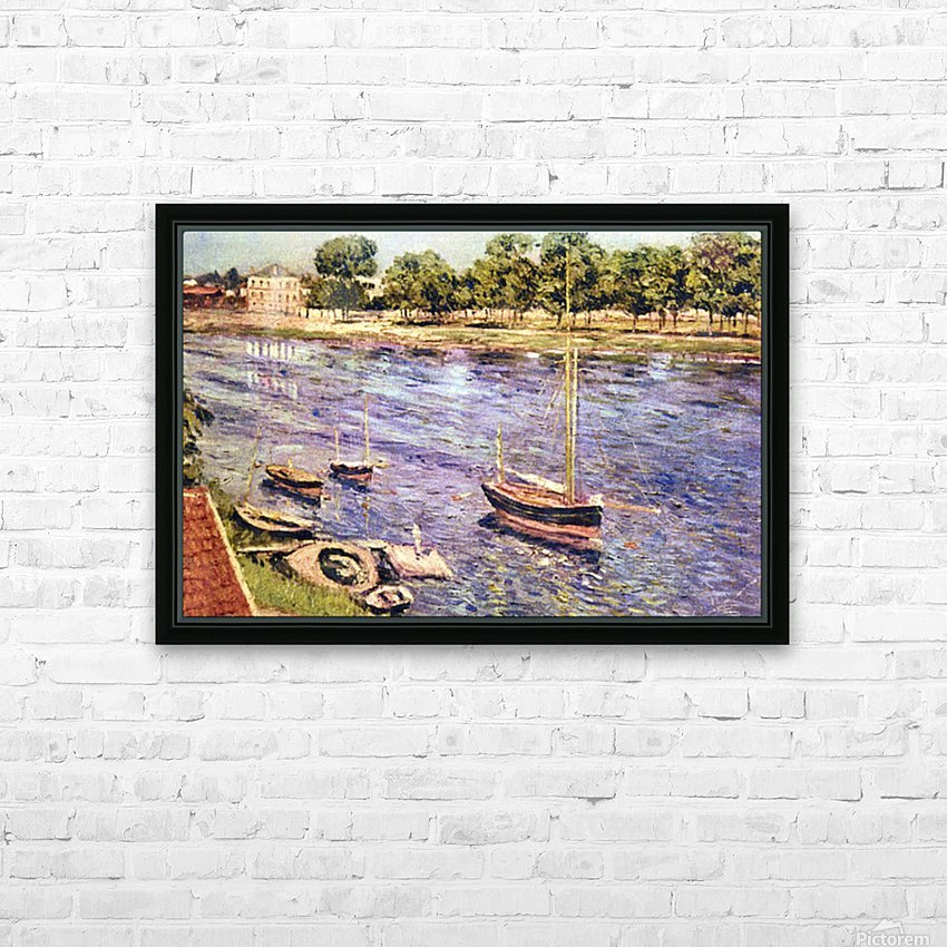 The Marne by Caillebotte HD Sublimation Metal print with Decorating Float Frame (BOX)