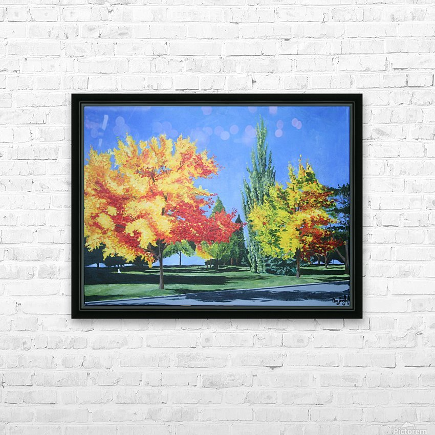 College Trees HD Sublimation Metal print with Decorating Float Frame (BOX)