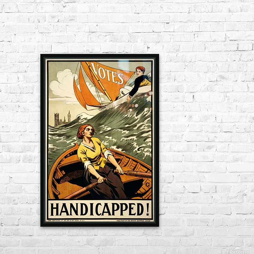 Handicapped HD Sublimation Metal print with Decorating Float Frame (BOX)