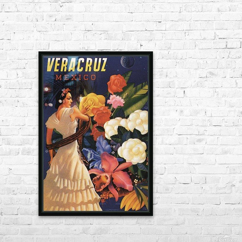 Veracruz Mexico Vintage Tourism Poster, 1940 HD Sublimation Metal print with Decorating Float Frame (BOX)