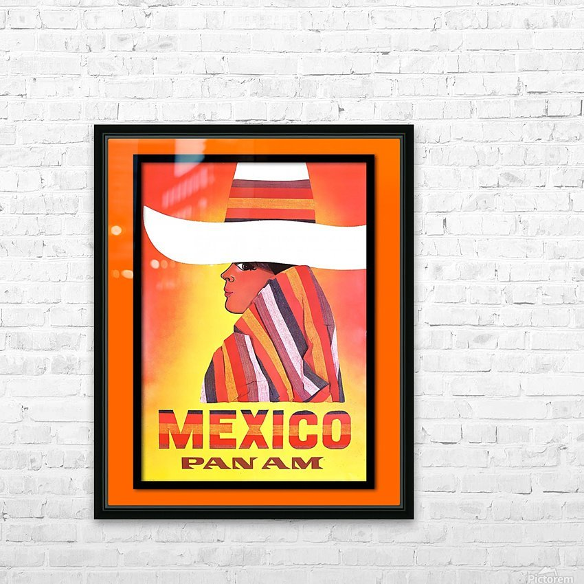 Mexico Travel Print 1968 HD Sublimation Metal print with Decorating Float Frame (BOX)