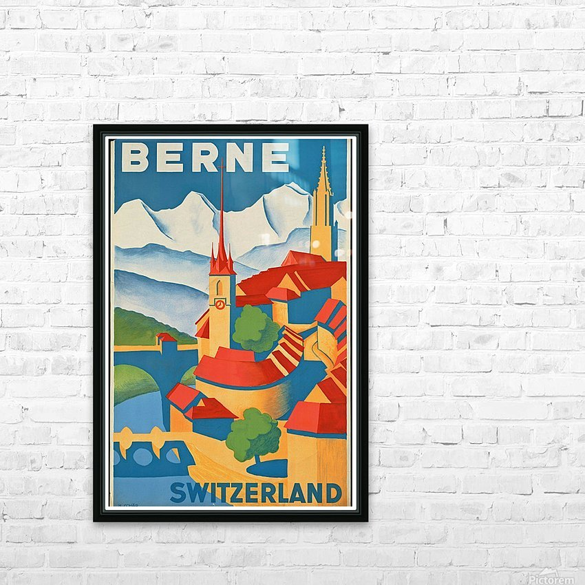 Berne Switzerland HD Sublimation Metal print with Decorating Float Frame (BOX)