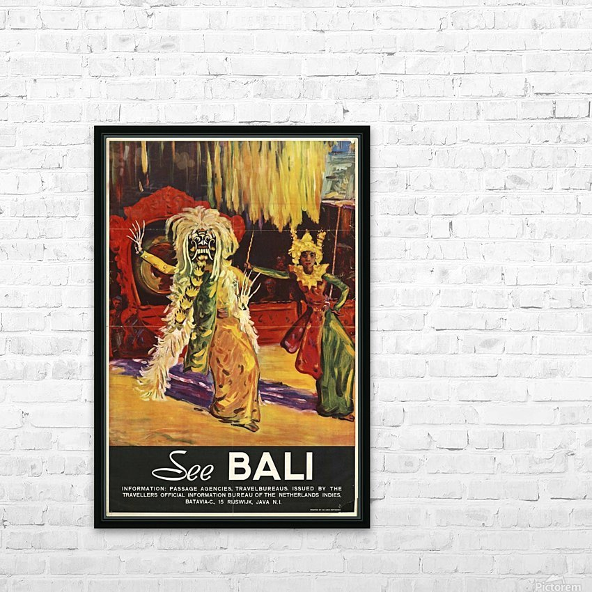 See Bali HD Sublimation Metal print with Decorating Float Frame (BOX)