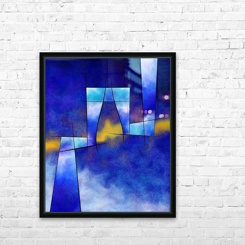Kefharia V1 - cubic vision HD Sublimation Metal print with Decorating Float Frame (BOX)