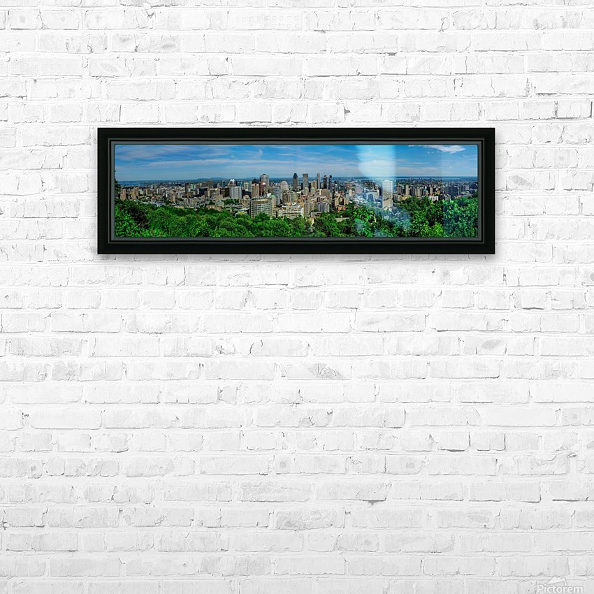 montreal panorama HD Sublimation Metal print with Decorating Float Frame (BOX)