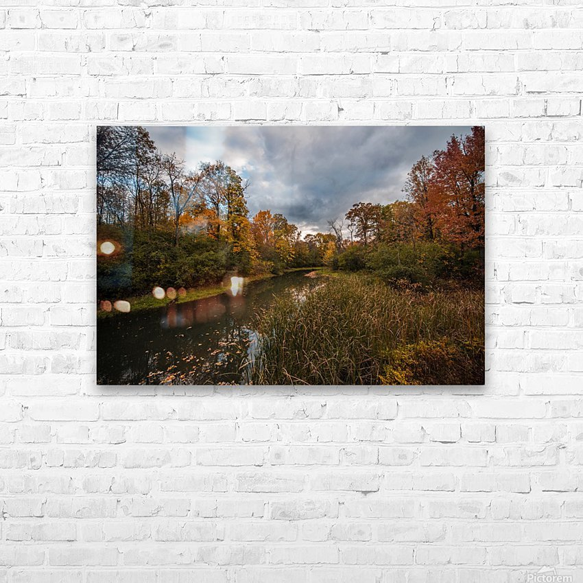 River side HD Sublimation Metal print with Decorating Float Frame (BOX)