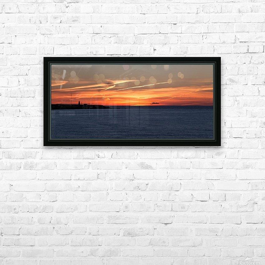 Orange Skies HD Sublimation Metal print with Decorating Float Frame (BOX)