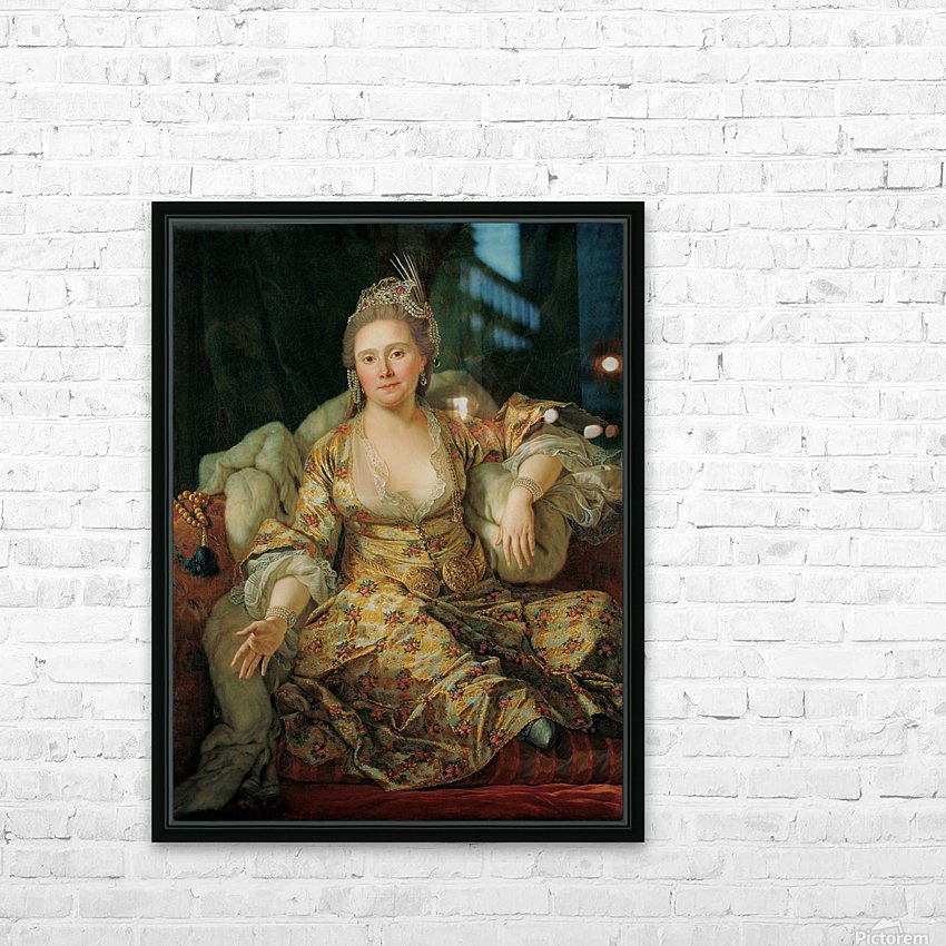 Portrait of the Countess of Vergenne HD Sublimation Metal print with Decorating Float Frame (BOX)