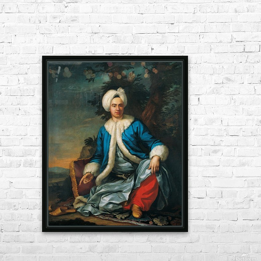 A European figure in Turkish costume HD Sublimation Metal print with Decorating Float Frame (BOX)