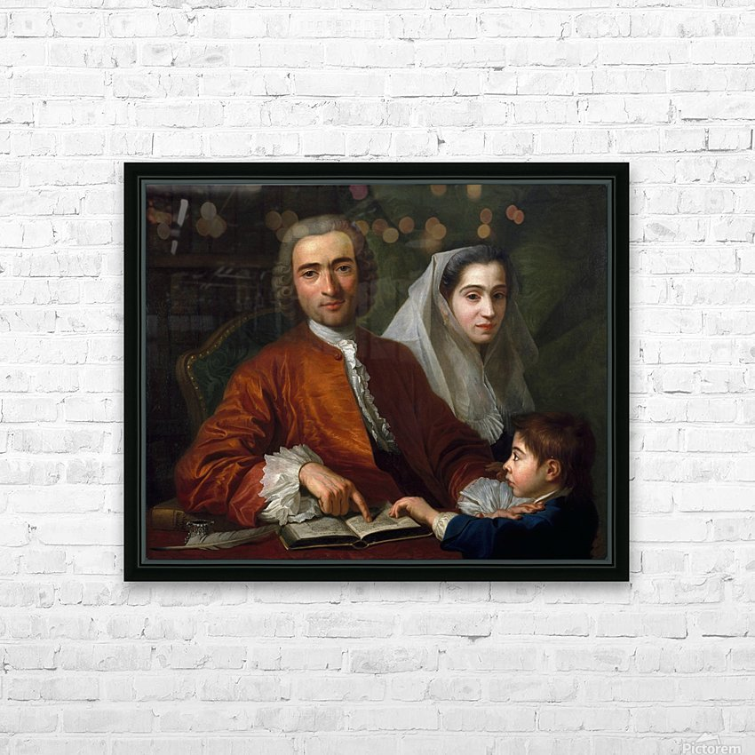 Dr Savatore Bernard with his wife and son HD Sublimation Metal print with Decorating Float Frame (BOX)
