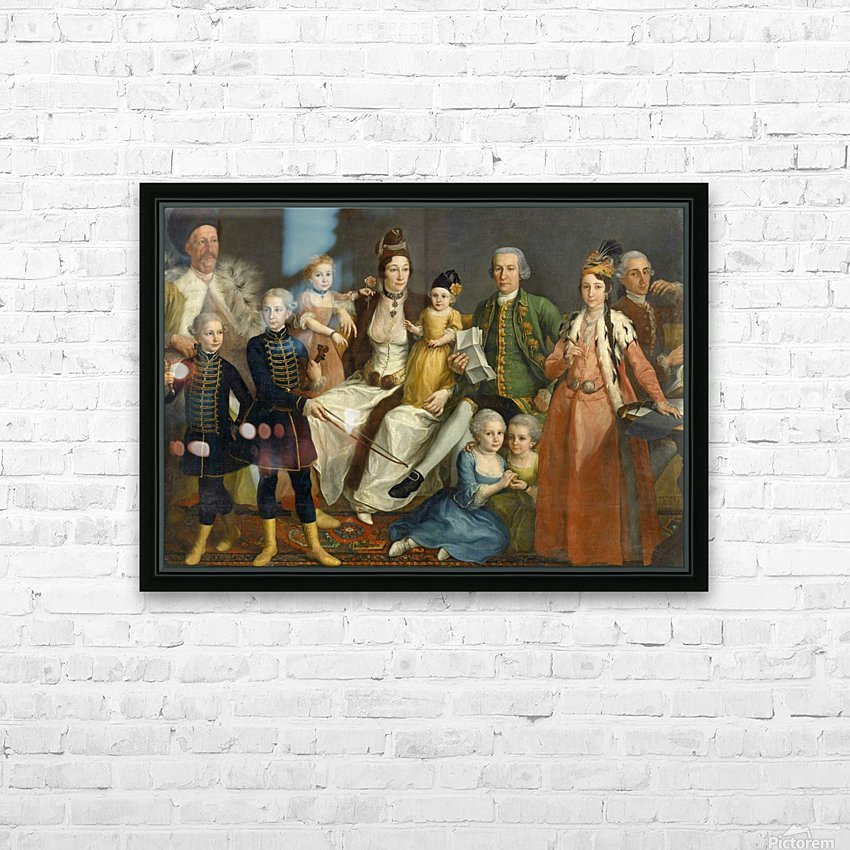 David George van Lennep and Family HD Sublimation Metal print with Decorating Float Frame (BOX)