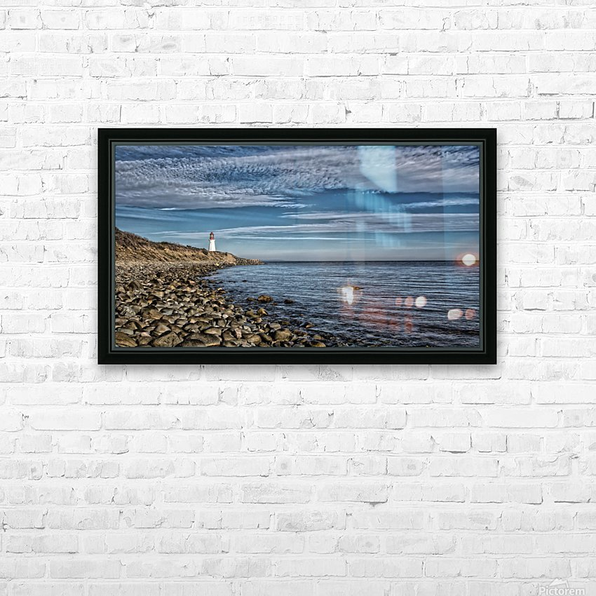 Low Point Lighthouse - Nova Scotia HD Sublimation Metal print with Decorating Float Frame (BOX)