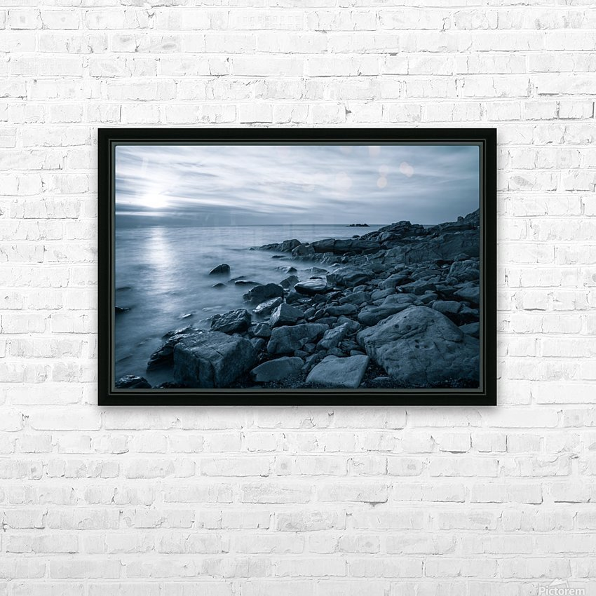 Moody Blue Presqu'ile HD Sublimation Metal print with Decorating Float Frame (BOX)