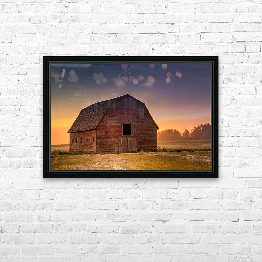Rickety Barn HD Sublimation Metal print with Decorating Float Frame (BOX)