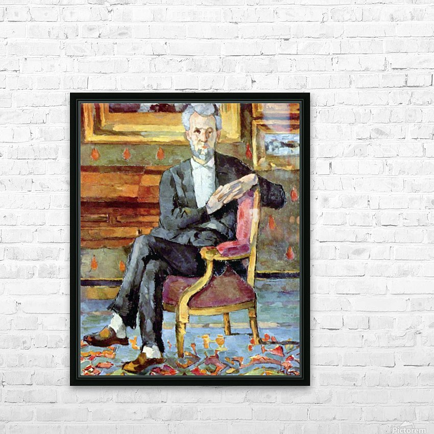 Victor Chocquet seated portrait by Cezanne HD Sublimation Metal print with Decorating Float Frame (BOX)