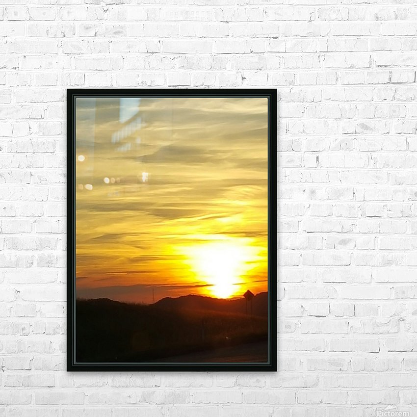 Vanishing Sun HD Sublimation Metal print with Decorating Float Frame (BOX)