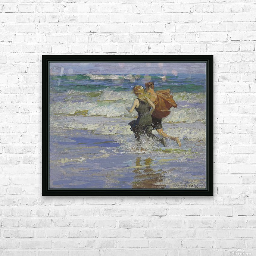 At the Beach HD Sublimation Metal print with Decorating Float Frame (BOX)
