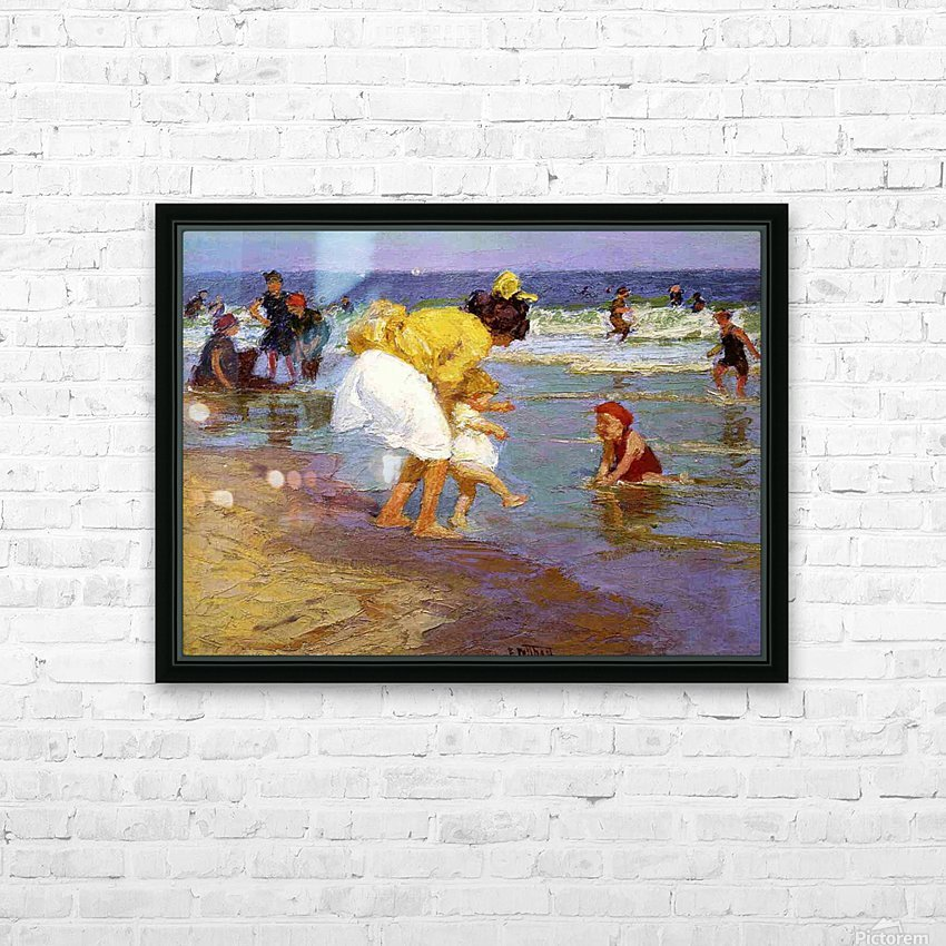 At the Seashore HD Sublimation Metal print with Decorating Float Frame (BOX)