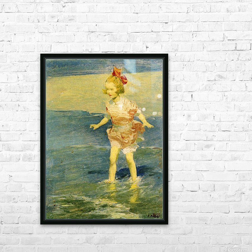 In the Surf HD Sublimation Metal print with Decorating Float Frame (BOX)
