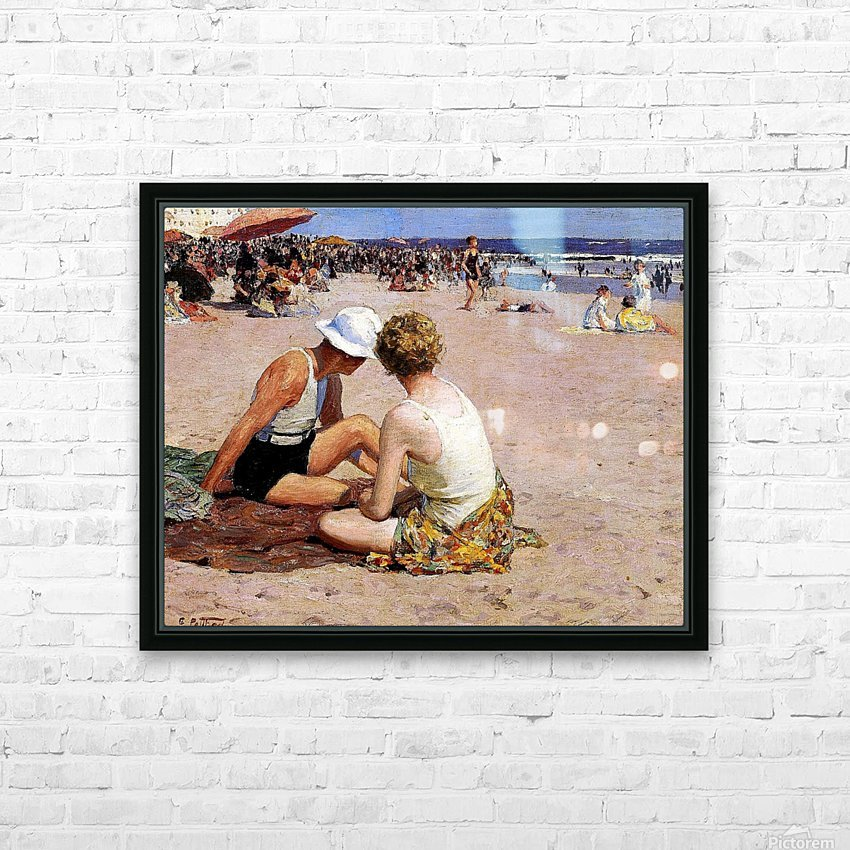 Summer Vacation HD Sublimation Metal print with Decorating Float Frame (BOX)
