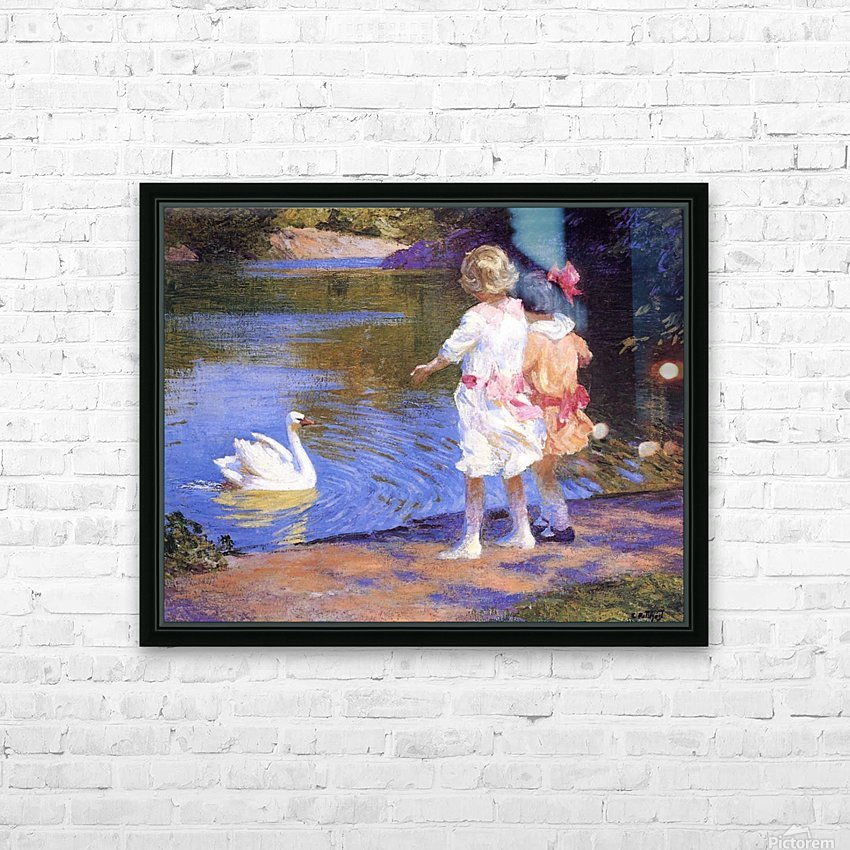 The Swan HD Sublimation Metal print with Decorating Float Frame (BOX)