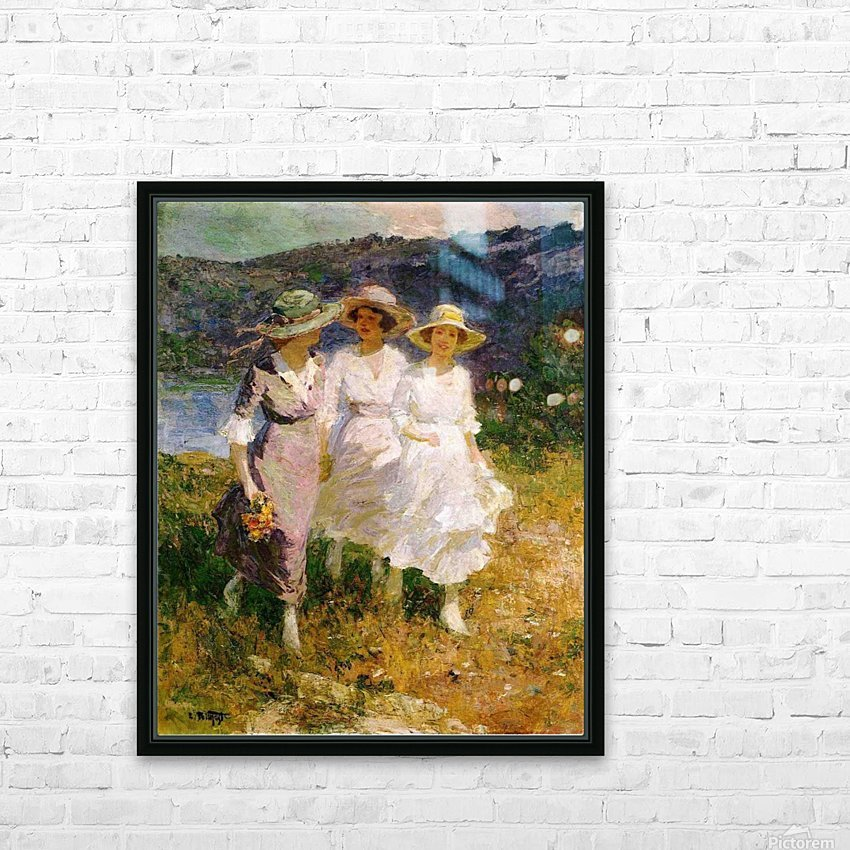 Walking in the Hills HD Sublimation Metal print with Decorating Float Frame (BOX)