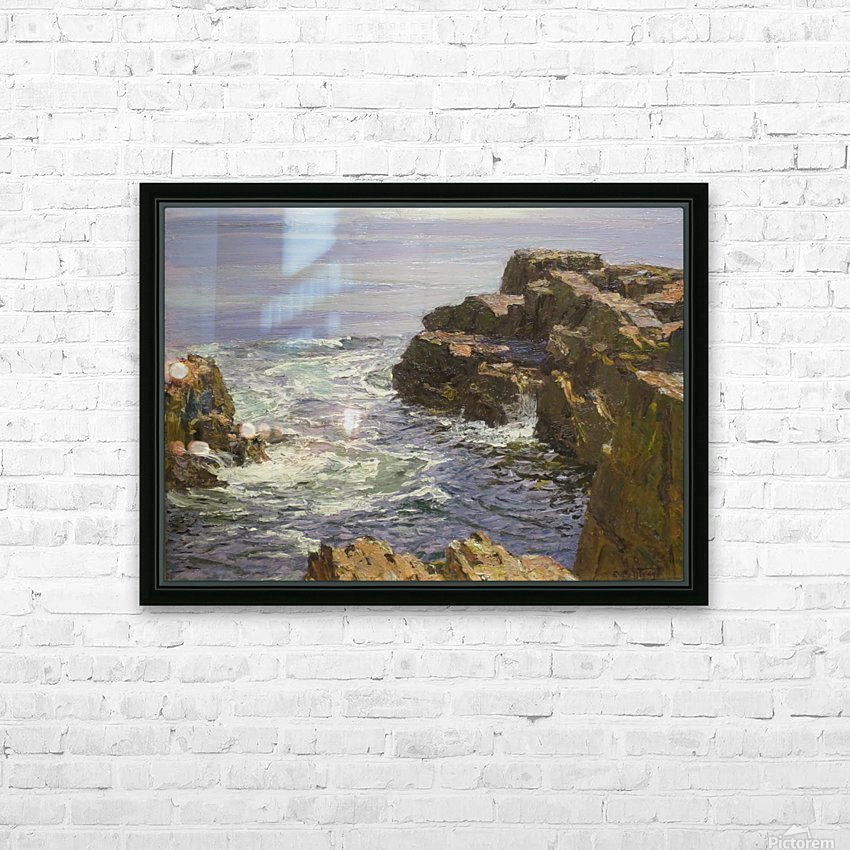 The Breaking Wave HD Sublimation Metal print with Decorating Float Frame (BOX)